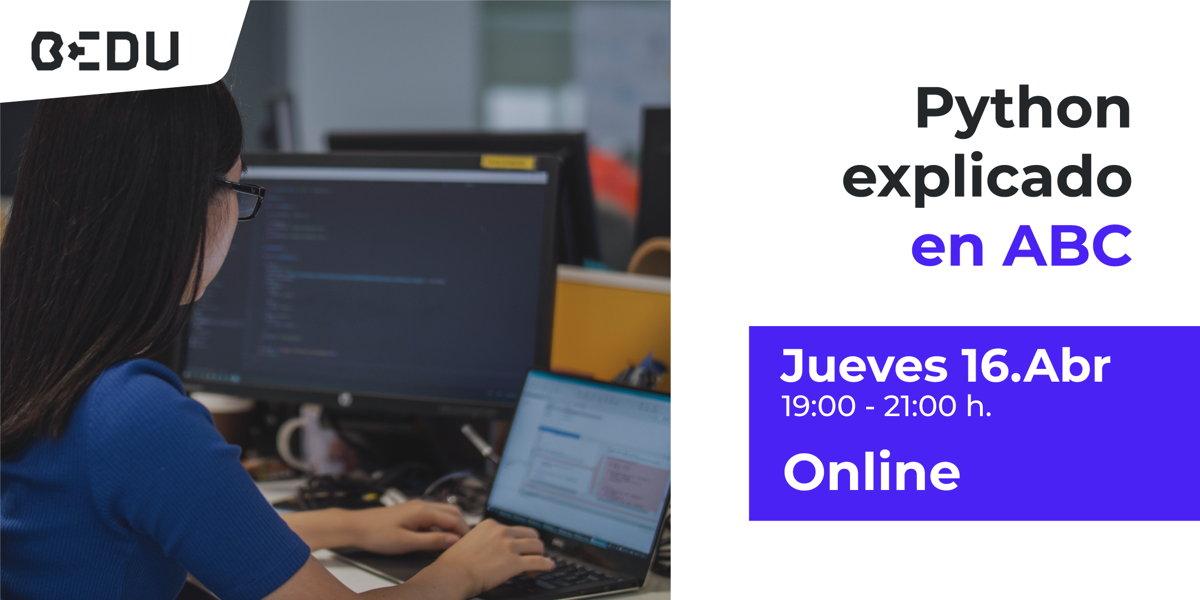 Clase online gratuita de programacion con Python